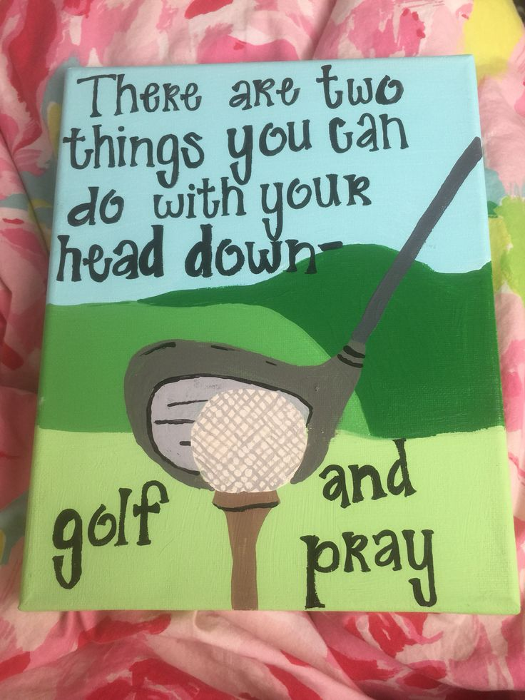 Golf quote canvas
