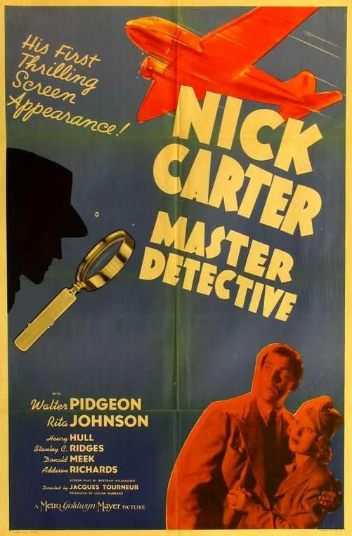 "The actor Walter Pidgeon portrayed the detective Nick Carter in a trilogy of films released by the Metro-Goldwyn-Mayer. The first entry in the series was "" Nick Carter, Master Detective"" (1939). Dir. Jacques Tourneur. Stars: Walter Pidgeon, Rita Johnson, Henry Hull."
