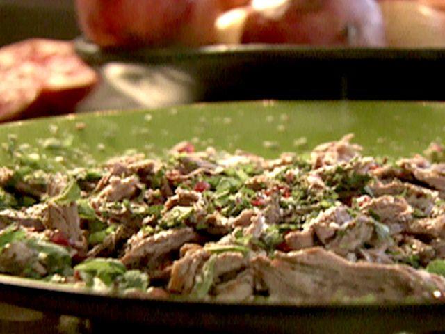 Warm Shredded Lamb Salad with Mint and Pomegranate, Nigella Lawson,  FoodNetwork.com