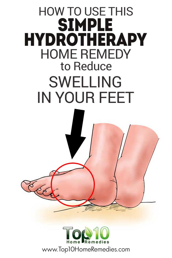 How to Use this Simple Hydrotherapy Home Remedy to Reduce Swelling in Your Feet