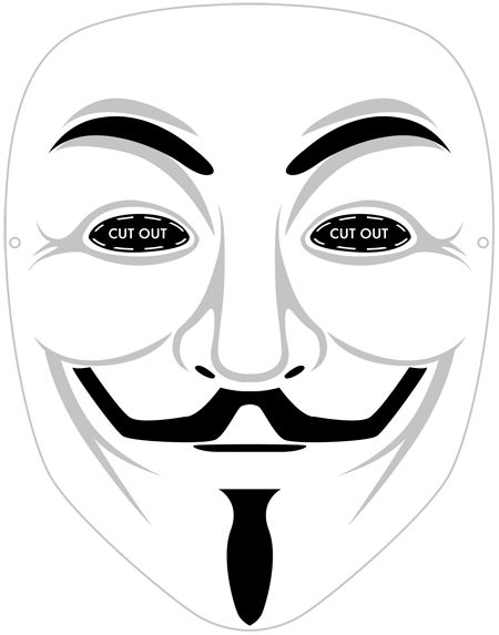 V For Vendetta Mask Stencil Printable Guy F...