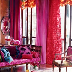 designer tricia guild, and her company designers guild, specializes in brilliantly colored textiles and furnishings