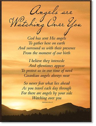 Poem About Angel Watching Over | Angels Watching Over You Poems Pictures