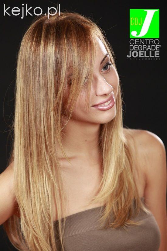 Degrade' Joelle Biondi Blond cieniowane pasemka koloryzacja refleksy kejko (2) highlights fryzury hairstyles long medium layered