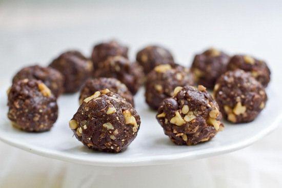 Cevizli Çikolatalı Browni Topları