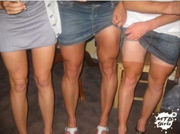Aussie Girls Mountain Bike Legs. Hot.