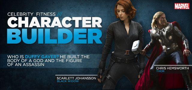 Bodybuilding.com - Avengers Interview: Chris Hemsworth And Scarlett Johansson's Personal Trainer (Black Widow program ... a little intense)