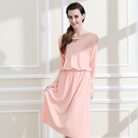 Qianxiu Hot Sale Nightgowns & Sleepshirts 2016 Women Long Style Nightdress Longue Sleep Lounge Womens cotton Nightwear 1462 #Affiliate