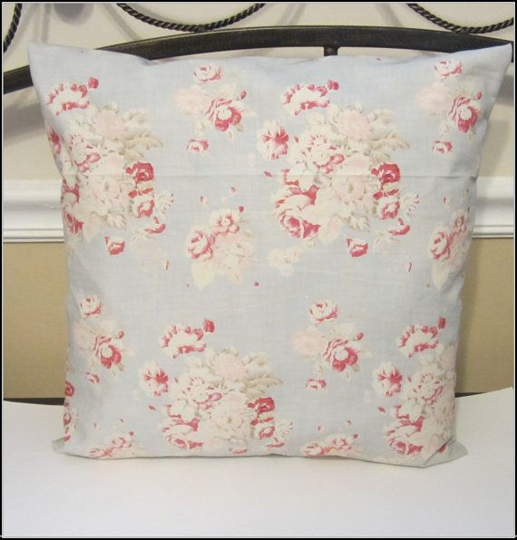 Decorative Throw Shabby Chic Pillow Cover by Peaceofmindpillows