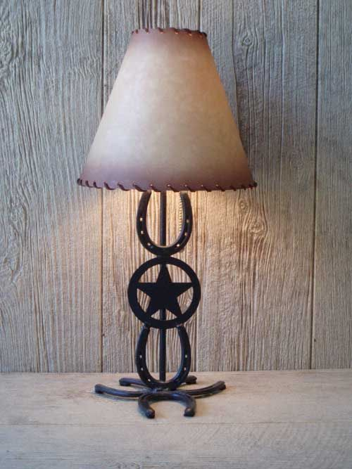 Cool Horseshoe And Texas Star Lamp Would Look Perfect In