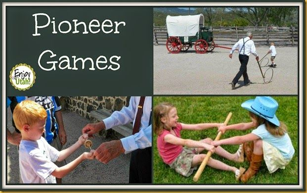 Pioneer Games ~ http://www.enjoyutah.org/2014/07/celebrate-pioneers-pioneer-games-and.html