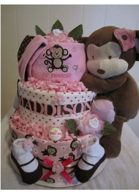 Cocalo Jacana diaper cake to match the Cocalo Jacana nursery bedding. - not exactly jungle jill but it works