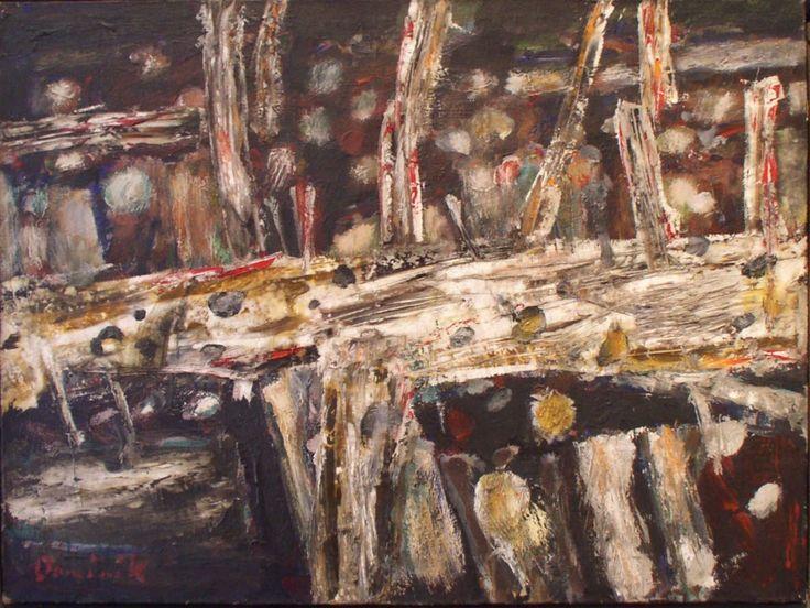 Rumowisko, 1963, olej na płótnie, 73 x 99 cm