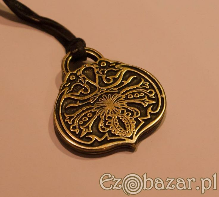 slavic jewellery fern flower pendant reenactment viking slavic rus 39 saxon anglo. Black Bedroom Furniture Sets. Home Design Ideas