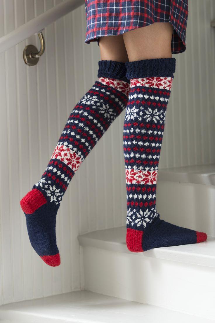 Color knitted socks I designed for Novita, pattern in Finnish and in Swedish at novitaknits.com