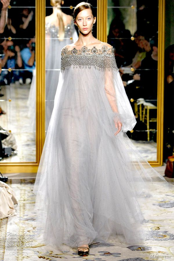 I absolutely love that half the time I don't know if Marchesa's gowns should be worn down the isle or in the bedroom (stunning)