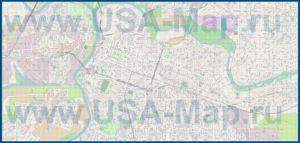 Подробная карта города Сакраменто