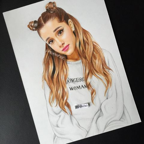 Ariana Grande drawing. Is this perfect or what?