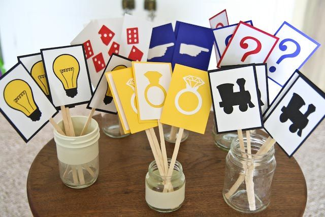 Monopoly Party Cupcake Toppers set of 24 by LessPinningMoreDoing