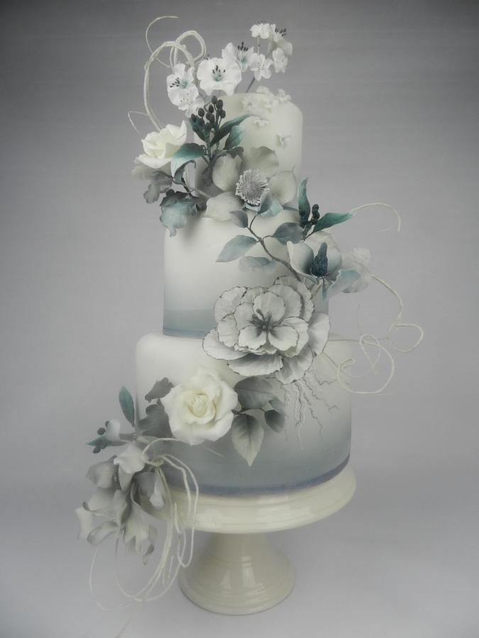 Fantasy flower wedding cake by Kim Wiltjer - http://cakesdecor.com/cakes/258285-fantasy-flower-wedding-cake