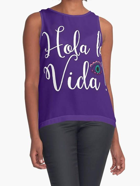 Buy Cheap Discounts Many Kinds Of  Sleeveless Top - Spider Web Watercolor by VIDA VIDA Outlet Huge Surprise Low Shipping Online wjVwbzP