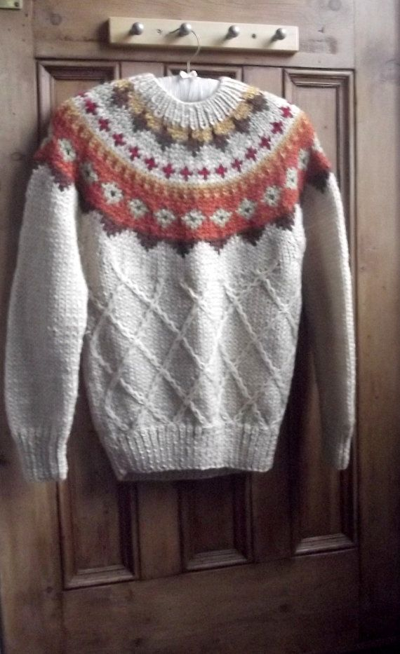 clothing jumper vintage nordic icelandic by DollyTopsyVintage
