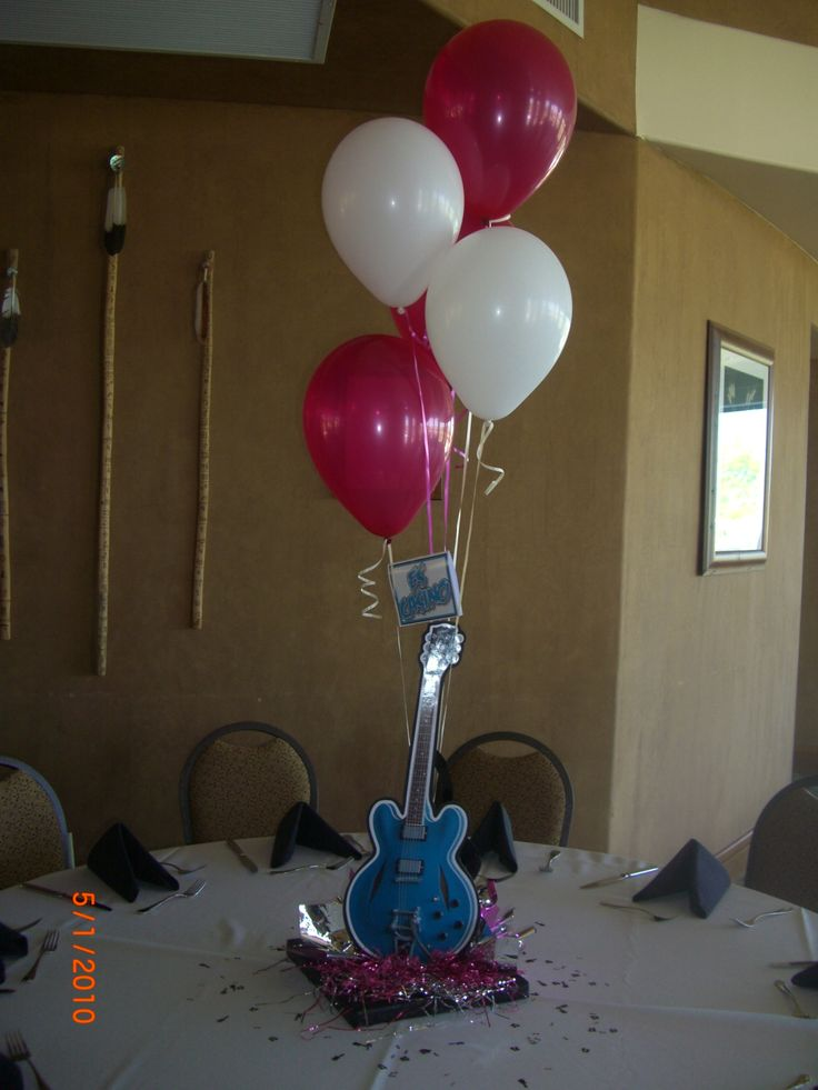 17 best images about party vaselina on pinterest jukebox themed parties and poodle skirts - Rock n roll dekoration ...