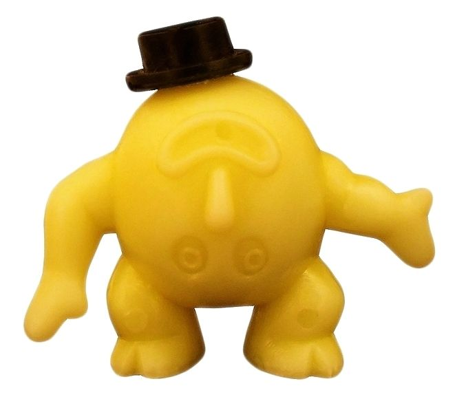 R&L cereal toys. A yellow Kooky (aka Upsy Downsy), from the 1968 Crater Critters premiums series.