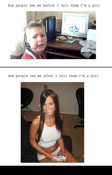 Girls sound like little boys until they identify themselves. This is a sad, and very true, fact.