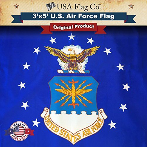 Usa Flag Co Us Air Force Flag By Is 100 American Made The Best 3 5 Outdoor Usaf Flags Made In Usa For Prime Members And Amazon A To Z Guarantee Review