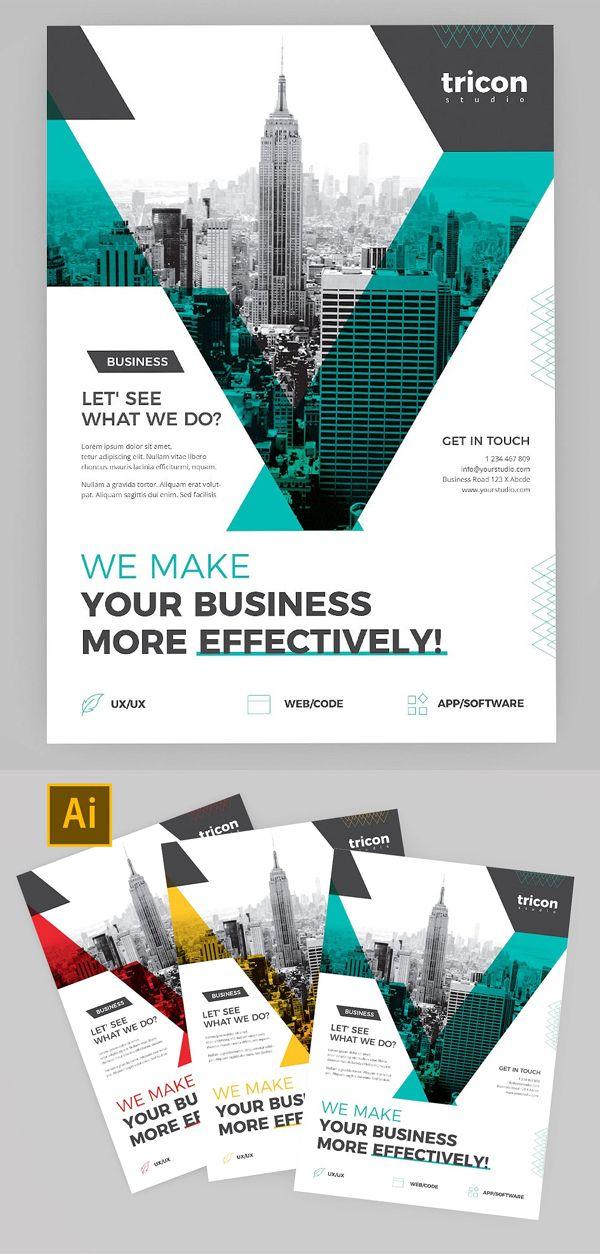Creative Multipurpose Brochure And Flyer Templates Company Brochure Design Leaflet Design Flyer Design Layout