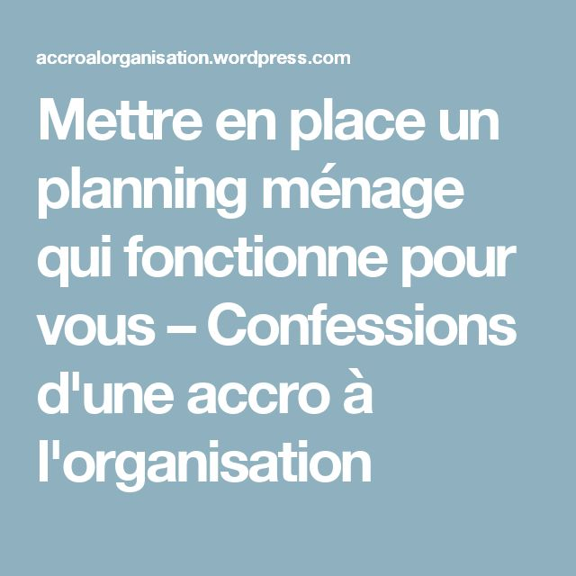 17 best ideas about planning m nage on pinterest organisation m nage range - Planning organisation menage ...