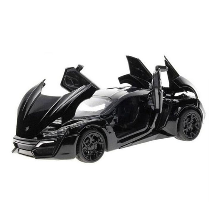 Miniatura de carro Fast And Furious 7 Model Car 1:32 Alloy Diecast Lykan Hypersport Pull Back With Electronic Toy Cars Kids Toys