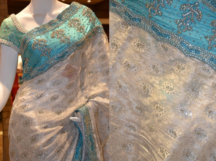 Just in: A Georgette wedding silk saree with zari. Price: Rs 18755.