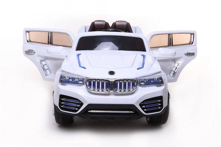 COCHE INFANTIL BMW X3 SYTLE 12V MANDO RC PADRES. BLANCO. 2.4G RUEDAS NEUMÁTICAS. 12PKCF000WTP, IndalChess.com Tienda de juguetes online y juegos de jardin