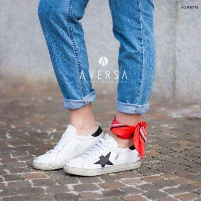 Kammi Sneakers Milano pelle bianca/nero