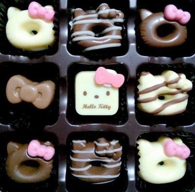 Hello Kitty Chocolates omg way to cute for a little girl