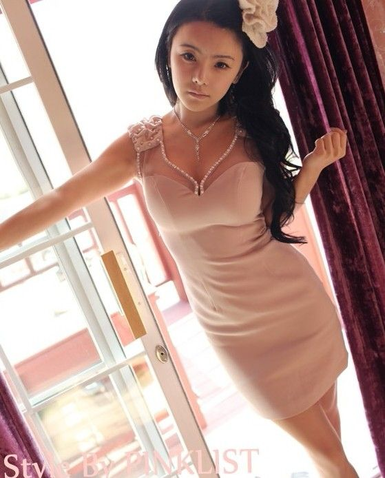 Dress Korea - LV1099LF Soft Pink  Rp 119.000,-