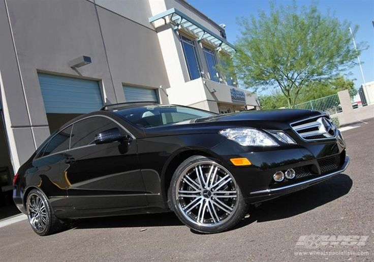 "2010 Mercedes-Benz E-Class Coupe with 19"" Vossen Wheels by Wheel Specialists, Inc. in Tempe AZ . Click to view more photos and mod info."