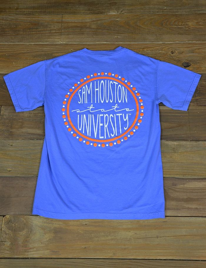 "Hey Bearkat Ladies! Show your school spirit in this new SHSU Comfort Color t-shirt! Yell it loud and Proud on game day ""EAT 'EM UP KATS"""