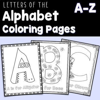 letters of the alphabet coloring pages a z