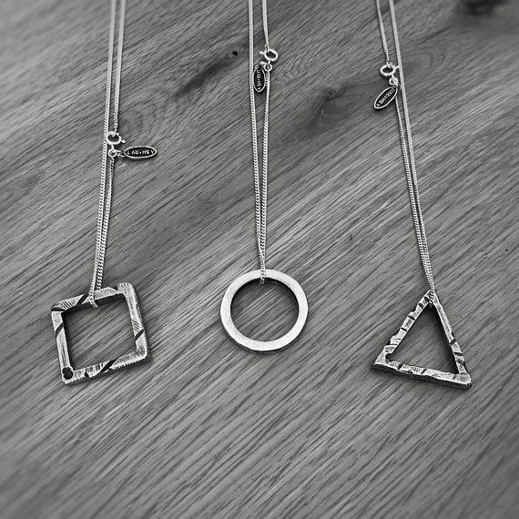 Mens Necklace Cube Pendant Silver Necklace Rustic Necklace Mens Jewelry Cube Necklace Geometric Jewelry Mens Gift Geometric Pendant Silver Pendant Necklace For Men Boyfriend Gift Square Pendant