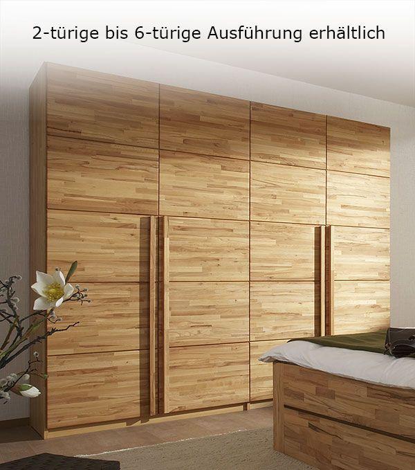 Cute Massiver Holzschrank aus nat rlicher Kernbuche massivholz wohnen schlafzimmer betten de