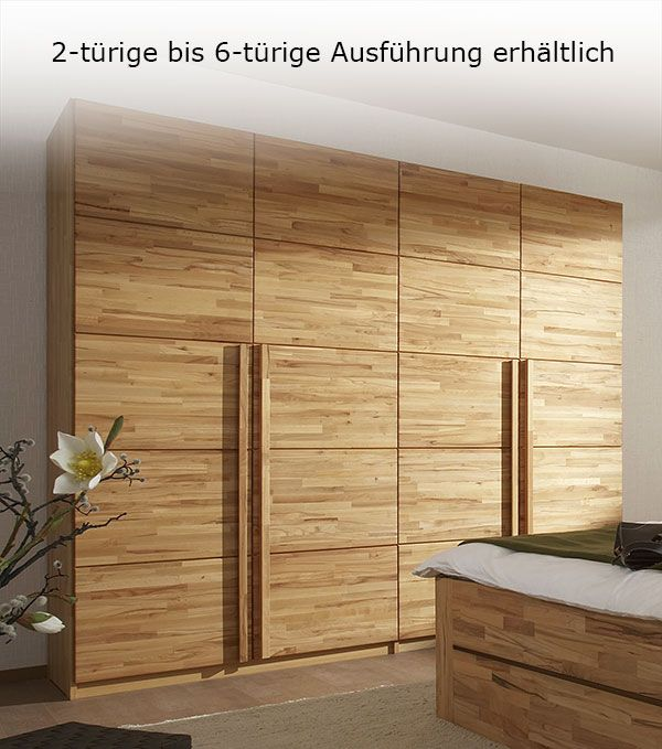 Fancy Massiver Holzschrank aus nat rlicher Kernbuche massivholz wohnen schlafzimmer betten de http betten de drehtueren kleiderschrank kernbu u