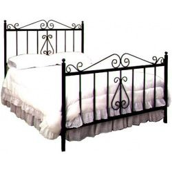 French Traditional Wrought Iron Bed