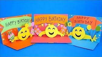 DIY Emoji 3D Pop Up Birthday Card - YouTube