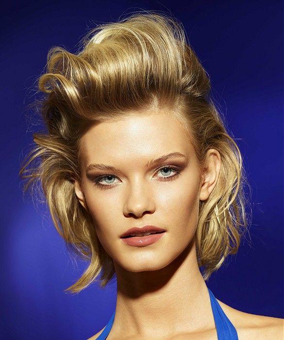 Medium Blonde Quiff #gorgeoushair | Medium blonde hair, Blonde wavy hair, Hair styles