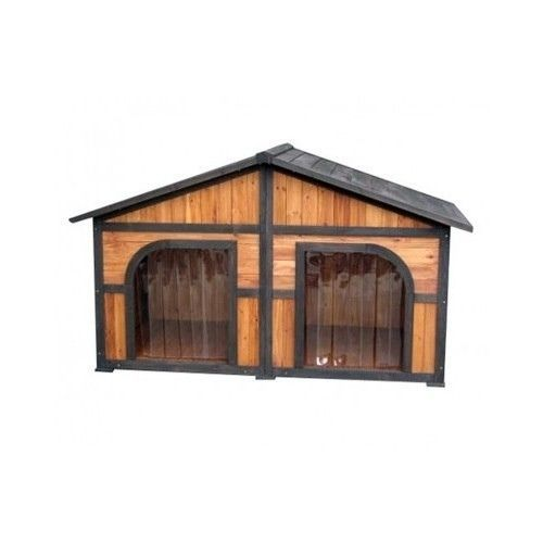 Duplex dog house extra large doghouse outdoor xl double for Double dog house for large dogs