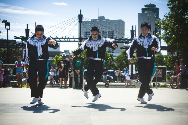 """""""Sagkeeng's Finest"""" from Canada's Got Talent performs at ADL 2012 in Winnipeg, MB  Photo By: APTN"""
