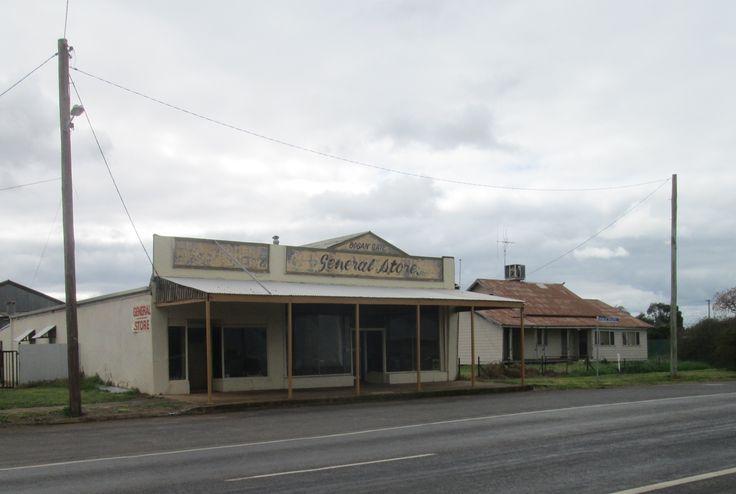 Abandoned shops at Bogan Gate, NSW